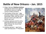 battle of new orleans jan 1815
