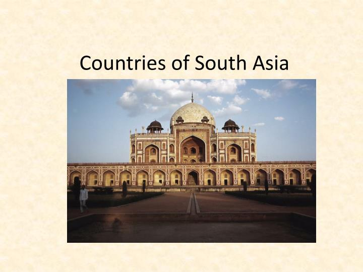countries of south asia n.