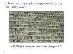 1 how many people disappeared during the dirty war