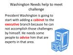 washington needs help to meet challenge