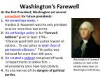 washington s farewell