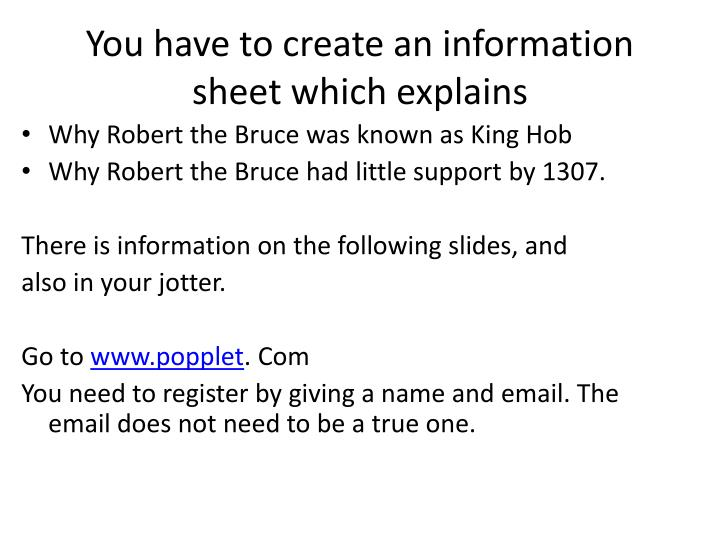 you have to create an information sheet which explains n.