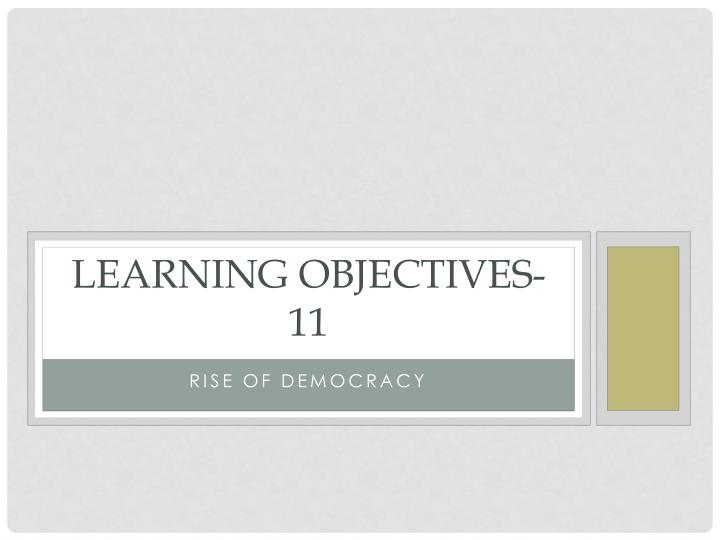learning objectives 11 n.