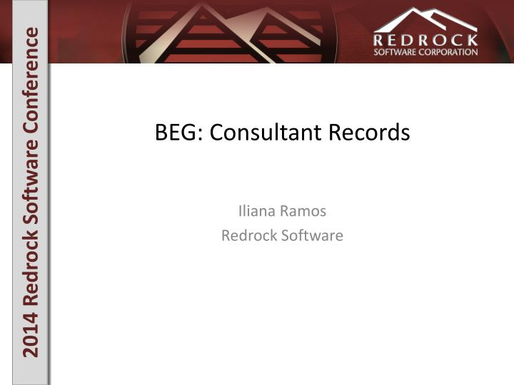 beg consultant records n.