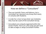 how we define a consultant