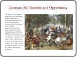 american self interests and opportunity
