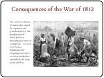 consequences of the war of 18123