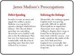 james madison s preoccupations