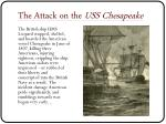 the attack on the uss chesapeake
