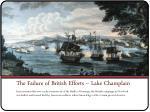 the failure of british efforts lake champlain