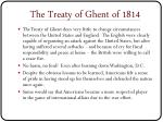 the treaty of ghent of 1814