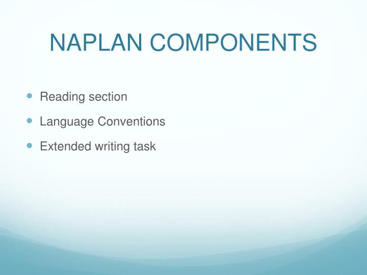 Naplan components