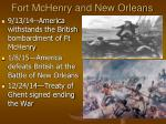 fort mchenry and new orleans