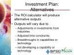 investment plan alternatives