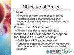 objective of project