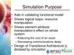 simulation purpose
