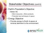 stakeholder objectives cont d1