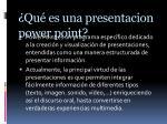 qu es una presentacion power point