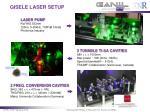 gisele laser setup
