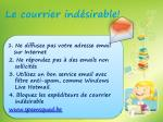 le c ourrier ind sirable