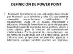 definici n de power point