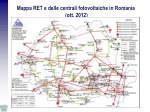 mappa ret e delle centrali fotovoltaiche in romania ott 2012