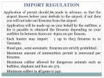 import regulation