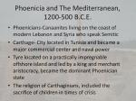 phoenicia and the mediterranean 1200 500 b c e