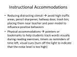 instructional accommodations