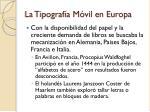 la tipograf a m vil en europa