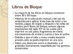 libros de bloque