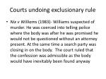courts undoing exclusionary rule