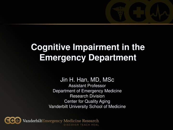 cognitive impairment in the emergency department n.