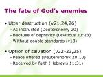 the fate of god s enemies
