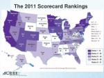 the 2011 scorecard rankings