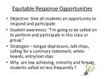 equitable response opportunities