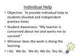 individual help