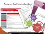 resources safety s current guidance