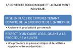 3 contexte economique et licenciement individuel