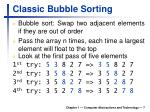 classic bubble sorting