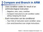 compare and branch in arm