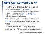 mips call convention fp