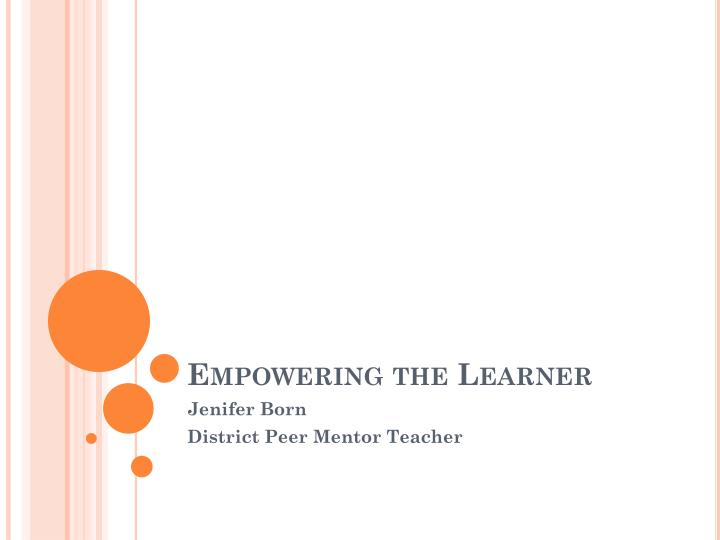 empowering the learner n.