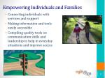 empowering individuals and families