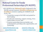 national center for family professional partnerships fv ncfpp