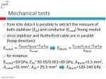mechanical tests