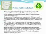 politics not poverty cont