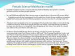 pseudo science malthusian model