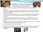 the myth of mass starvation
