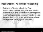 hazelwood v kuhlmeier reasoning2